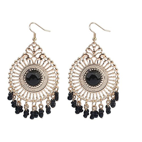 Darkey Wang Woman Fashion Jewelry Temperament Retro National Wind Hollow Fringed - Punch Watermelon Champagne