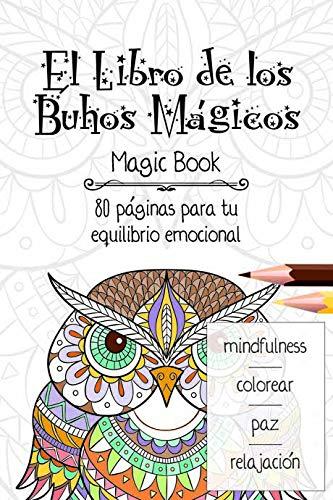 Libro Mandala de 80 paginas Modelo Buhos Magicos