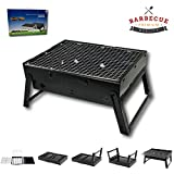 McWay Charcoal Barbeque Grill Foldable and Portable – Lightweight – Rust-Free- Easy to Set Up – For Outdoor Cooking (Small)