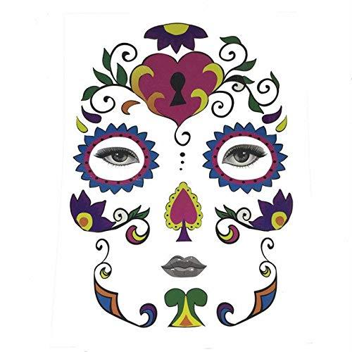 Party Masks - Halloween Temporary Face Art Waterproof