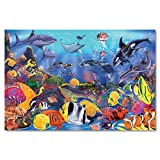 Melissa & Doug Underwater Floor Puzzle, Extra-Thick Cardboard Construction, Beautiful Original Artwork, 48 Pieces, 60.96 cm × 91.44 cm