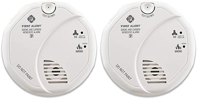 Amazon.com : First Alert Combination Smoke and Carbon Monoxide Detector, Battery Operated, 2 Pack : Sports & Outdoors