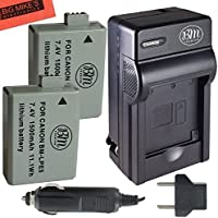 BM Premium 2 Pack of LP-E5 Batteries And Battery Charger Kit For Canon EOS Rebel XS, Rebel T1i, Rebel XSi, 1000D, 500D, 450D, Kiss X3, Kiss X2, Kiss F Digital SLR Camera