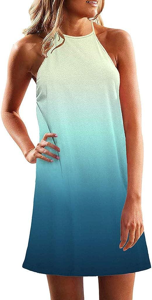 LUDAY Women's Summer Basic Short Sleeve Swing Plus Size Sundresses Casual Mini Tank Dress Beach Dress T-Shirt Dress