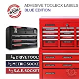 Husky Tools Chest Best Deals - Tool Box Organizer Labels - Tough Foil adhesive decals for all toolboxes Craftsman, Snap-On, & Cornwell, Husky, Stack On & more - stainless, aluminum, plastic & steel. organize it quick & easy