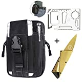 Molle Pouch Tactical Pouches Tool Organizer EDC Waist Bag with Phone & Tactical Pen Holder,Credit Card Tool 11 in 1 Wallet Tool,Folding Card Knife,3 Type/Set Tactical Gear (3 type/set)