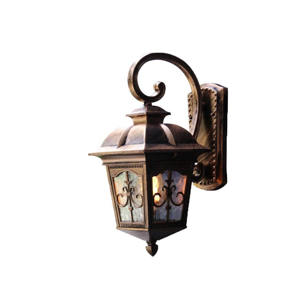 Wall Lamp Outdoor Waterproof Continental Retro Industrial Wind Balcony Nordic Exterior Outdoor Solar Light Garden Light,Lc1018 Bronze Trumpet