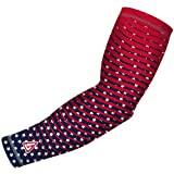Youth and Adult Arm Sleeve for Baseball Football Basketball and other sports activities. By B-Driven Sports, 8-12mmHG Medium Compression in many Colors and Designs 100% Gaurantee, Free exchanges