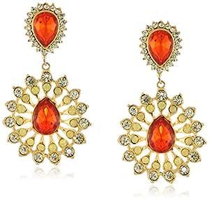 Yochi Yellow Opal Sunburst Earrings