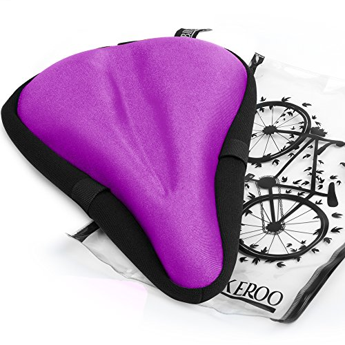 Comfortable Bike Seat Cushion for Women and Men - Gel Padded Bicycle Seat Cover for Exercise ()