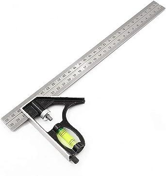 en Acier Inoxydable Ruler Spirit Niveau CS300 Outil environ 30.48 cm Combinaison Set Carré 300 mm 12 in