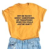 #7: LOOKFACE Women's Short Sleeve Letter Printed Tee Tops Casual T-shirt