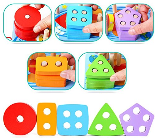 Baby Toddler Kids Gifts Wooden Shape Sorter Geometric Cognitive Toy Educational Game for Children