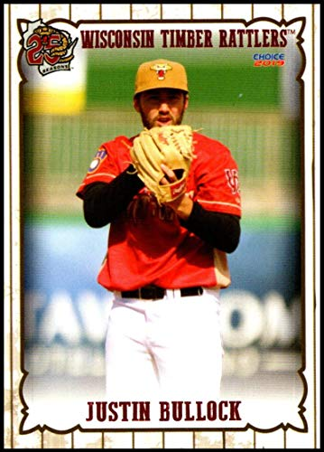 2019 Choice Wisconsin Timber Rattlers #3 Justin Bullock NM-MT Wisconsin Timber Rattlers Officially Licensed MiLB Baseball Trading Card ()