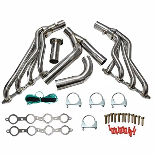 ZHUOTOP 2015 Exhaust Manifold Header+Y-Pipe Kit For 99-06 Chevy/Gmc Gmt800 Silverado/Sierra 1500