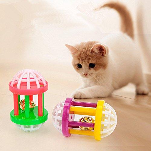 Bonytain - Juguete de plástico colorido para gato con mancuernas ...