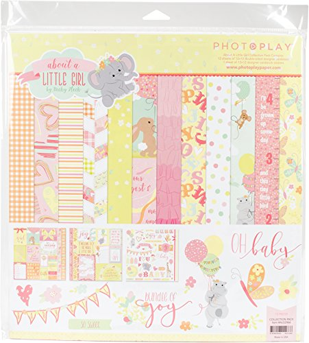 12x12 Girl Paper (Photoplay Paper Photo Play Pk 12x12 About a Little Girl Collection Pack)