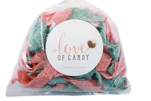 Love Belt (Love of Candy Bulk Candy - Blue Raspberry & Strawberry Sour Belts - 1lb Bag)