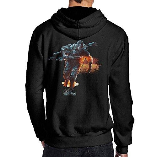 SAMMOI Battlefield Men's Fleece Sweatshirt XXL Black