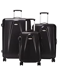 Delsey Contour Lite 3-Piece Hard Side 4-Wheeled Luggage Set - Black