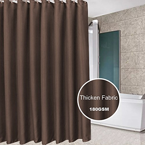 Antique Pattern (Eforcurtain Small Curtains 36 By 72 Inch Antique Pattern Bathroom Shower Curtain Waterproof and Mildew-Free Fabric Shower Curtain, Coffee)