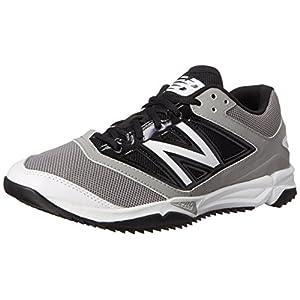 New Balance Men's T4040V3 Turf Baseball Shoe, Grey/Black, 10.5 D US