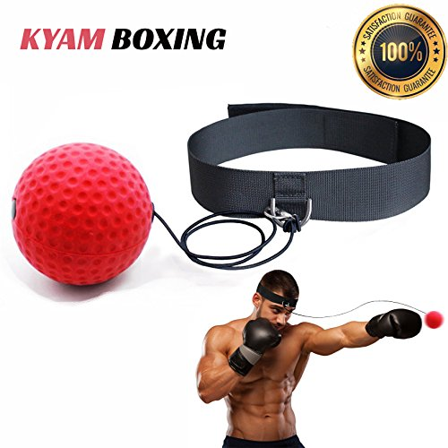 WIWI Boxing Fight Ball Two Speed Exercise Balls for Training Hand Eye Coordination Punching Accuracy Reflex with Adjustable Headband