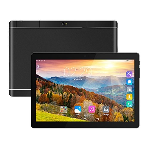 Padcod 10 Inch Tablet, 2G/3G Network, MTK 6582 quad-core 1.3GHz Processor, 1GB RAM+16GB ROM, Wi-Fi Bluetooth Android 3200mAh Battery Phablet (Black) by Padcod