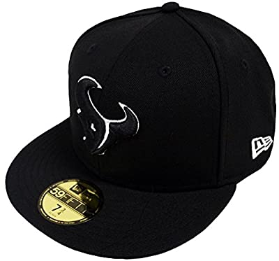 New Era Houston Texans Black White 59fifty Fitted Cap Basecap Limited Edition