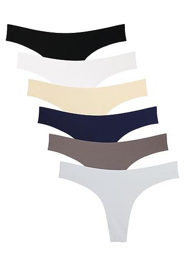8176143ef Wealurre Women Low Rise Bikini Panties Seamless Thong Underwear ...