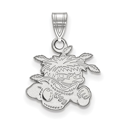 Wichita State Small (1/2 Inch) Pendant (10k White Gold) by LogoArt