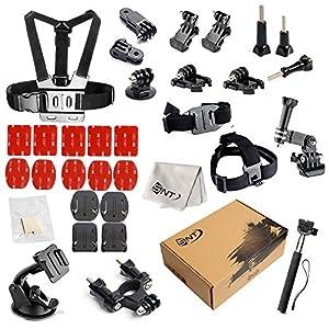 SNT Sport Action Camera Accessories for Go Pro HERO 5 4 3+ 3 2 1,SJCAM4000 SJ5000 SJ6000 AKASO DBPOWER Lightdow Extendable Handle Monopod Car Suction Cup Mount Holder Bike Handlebar Holder Mount