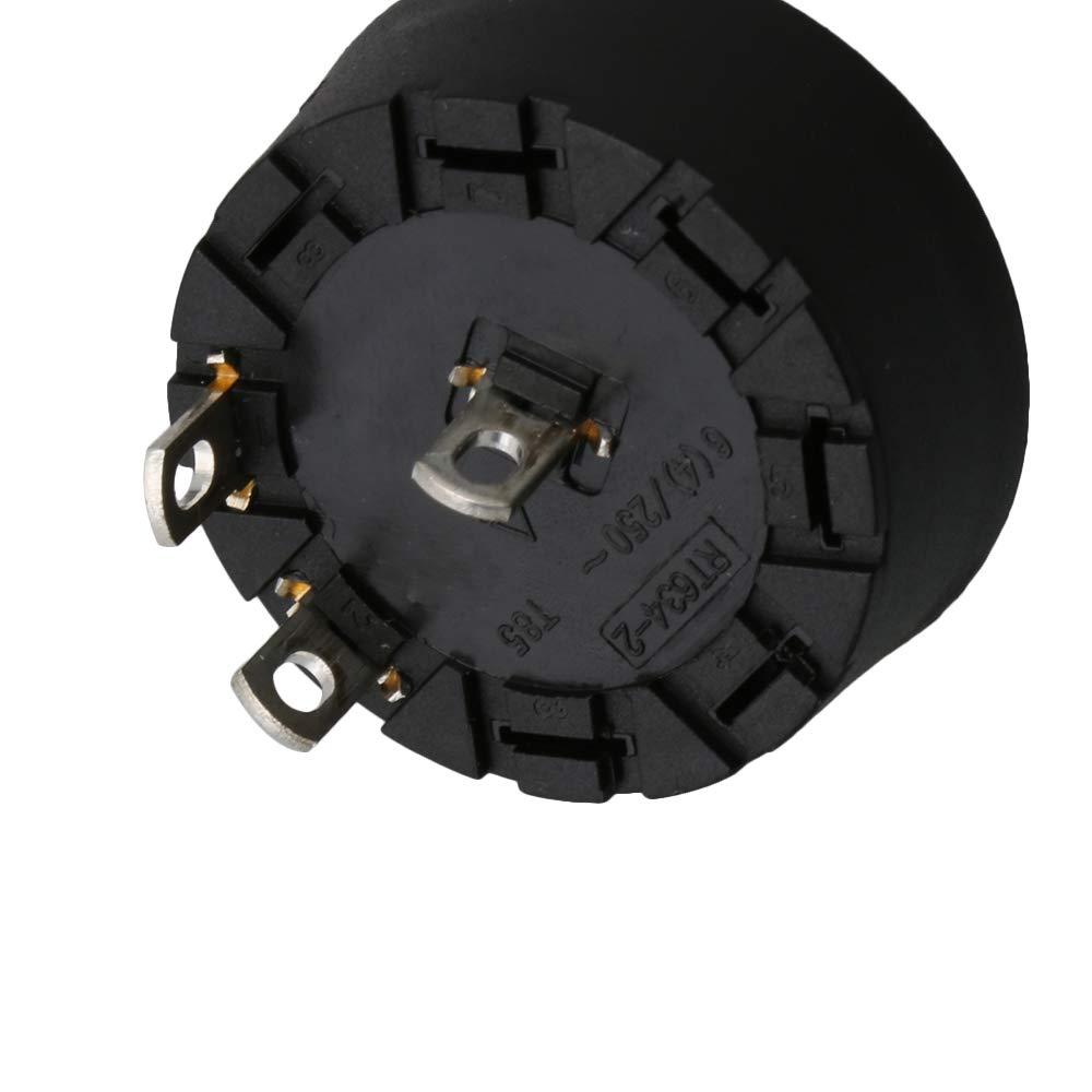Yibuy Selector Interruptor giratorio con perilla giratoria 2 posiciones mezclador Juicer Switch