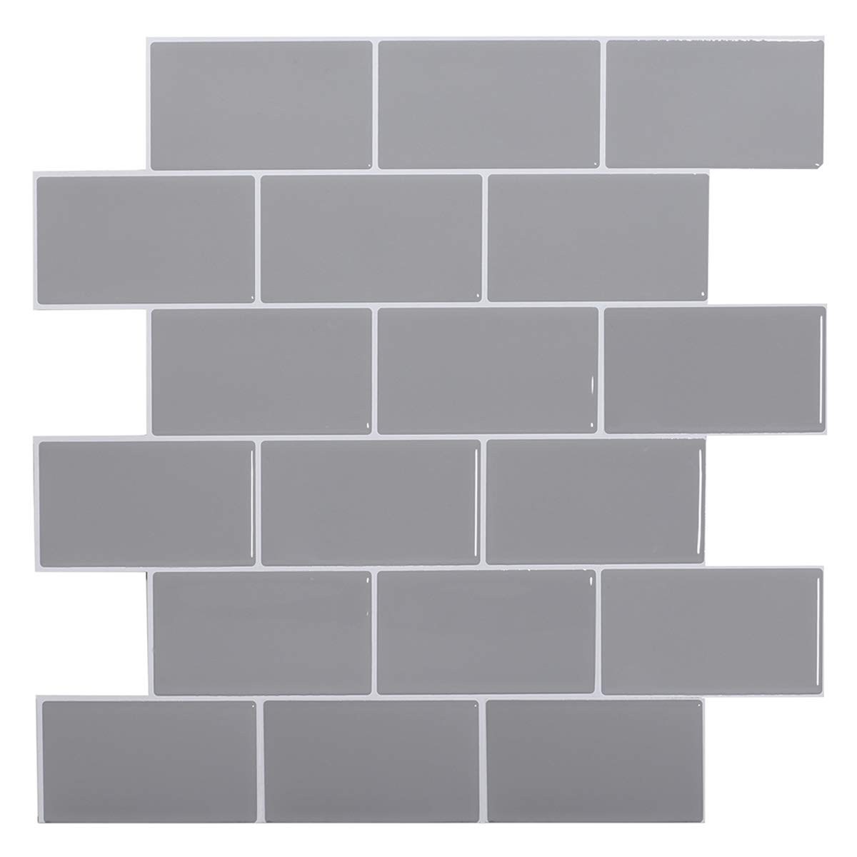 Stick on Tiles Kitchen Backsplash in Dark Grey STICKGOO Subway Tiles Peel and Stick Backsplash Pack of 1, Thicker Design