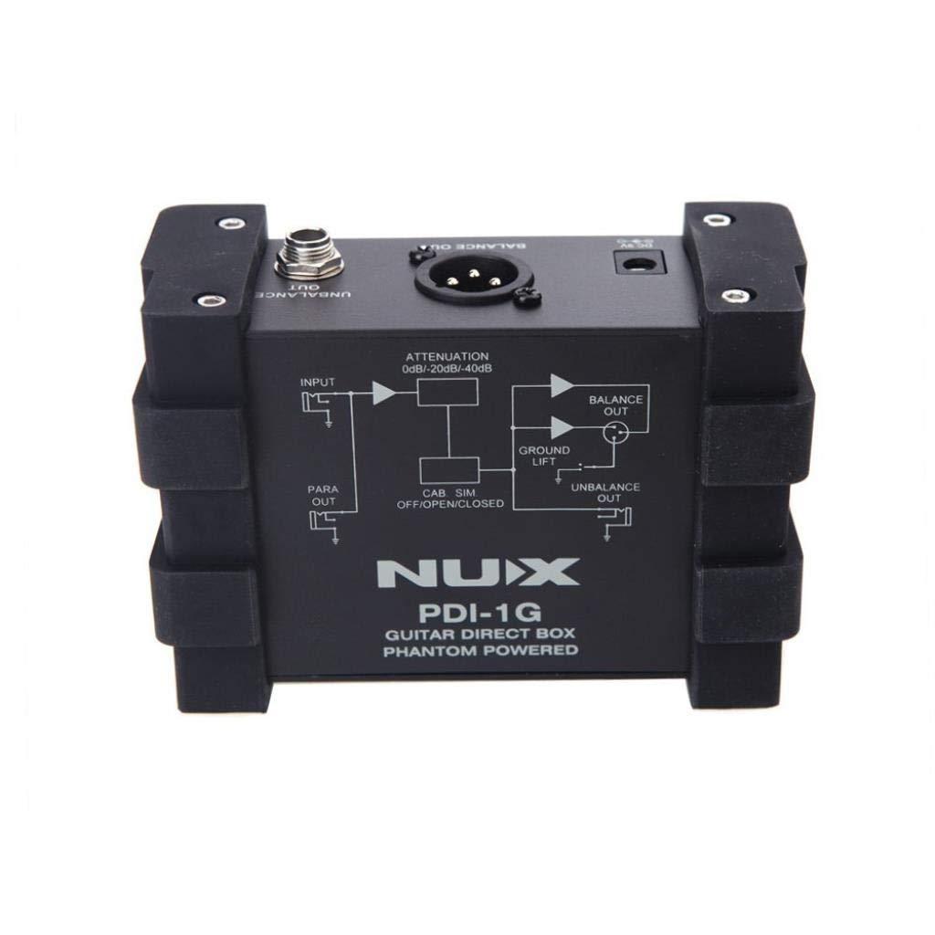 Guitarra Mezclador de audio Inyección directa Phantom Power Box ...