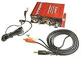 汎用 ステレオ アンプ 12V 小型 ハイパワー オーディオ 赤 レッド MA-170
