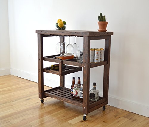 Cheap Reclaimed Wood Bar Cart
