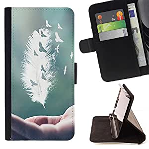 For Motorola Moto X 3rd / Moto X Style - Danger Line Skeleton /Leather Foilo Wallet Cover Case with Magnetic Closure/ - Super Marley Shop -