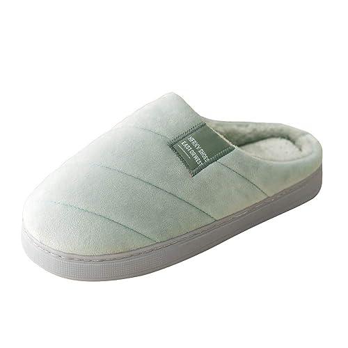 97a7dc74e18 Women Men Cotton Slippers Winter Warm Plush Slipper Indoor Shoes Anti-Slip  Velvet House Platform
