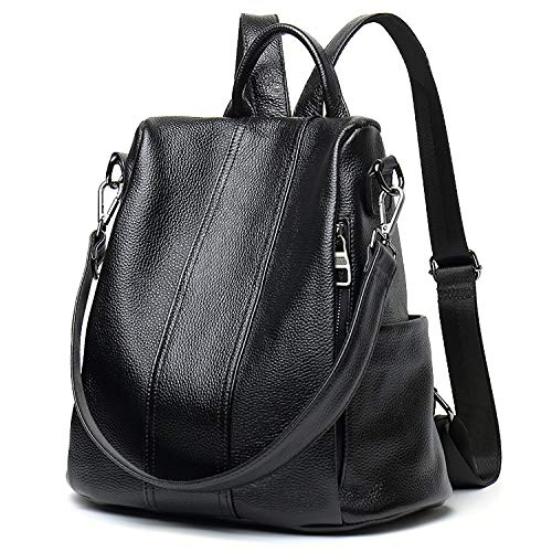 Backpacks for Women Large Capacity Leather Womens Backpack School Bag ANTI-THEFT Design two ways carry Shoulder Bags