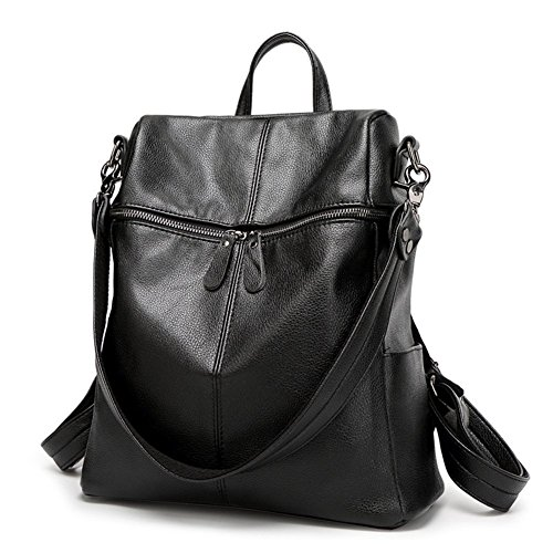 doppia delle borsa grande a nera da con cerniera donne capacità viaggio tracolla Borsa XwFqU0nEn