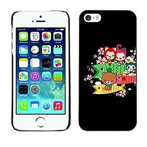 Paccase / SLIM PC / Aliminium Casa Carcasa Funda Case Cover - Cute Bear Fish Animals - Apple Iphone 5 / 5S