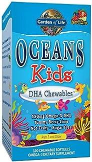 Garden of Life Oceans Kids DHA Chewables, Berry Blast, 120 ct