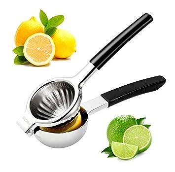 ycgre exprimidor de limones premium calidad 304 Acero inoxidable exprimidor manual Juicer con mango antideslizante de silicona y diseño resistente Ideal ...