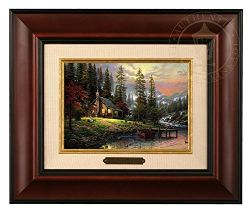 - Thomas Kinkade A Peaceful Retreat Brushwork (Burl Frame)