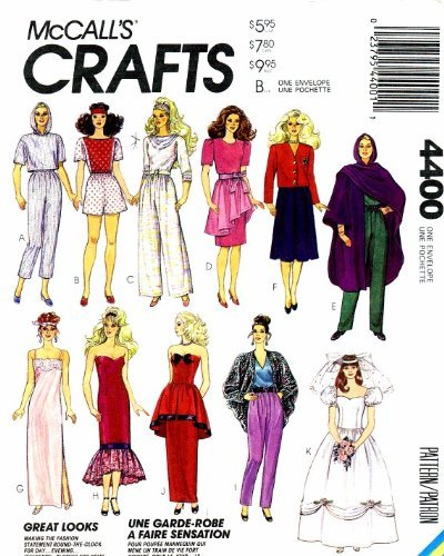 - Doll Clothes McCall's 4400 Vintage Sewing Pattern