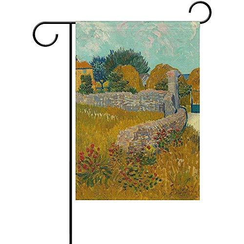Cvhtr3m 12 x 18 Inch Garden Flag, Seasonal Garden Banner Double Sided Printed Farmhouse in Provence by Vince Van Gogh Flag,Decorative for Home Outdoor Yard Garden