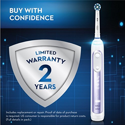 Oral-B Pro 7500 Power Rechargeable Electric Toothbrush Powered By Braun, Orchid by Oral B (Image #12)