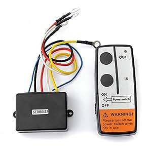 ARBUYSHOP alta calidad a estrenar de 50 pies sin hilos del torno kit de control remoto para Jeep SUV ATV UTV 12V selector del auricular