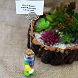 PaperLanternStore.com Mini Message Bottle Favor and Table Number Photo Holder w/Cork - 2.5 Inch